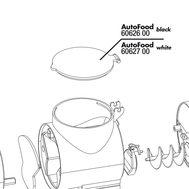 JBL AutoFood WHITE Food chamber lid - сменная крышка контейнера, белая