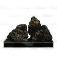 UDeco Black Lava XL - Натуральный камень Лава чёрная для оформления аквариумов и террариумов, 1 шт.