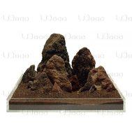 UDeco Brown Lava MIX SET 12 - Натуральный камень Лава коричневая для оформления аквариумов и террариумов, упаковка 12 кг.