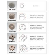 Высокопористый наполнитель 3DM NUGGETS (S) для фильтров керам. ? 12-14ммx10-12мм, фото 1