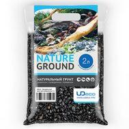 Грунт UDeco Canyon Black - Черный гравий 6-12 мм 2 л, фото 1