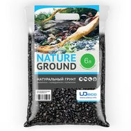 Грунт UDeco Canyon Black - Черный гравий 6-12 мм 6 л, фото 1