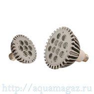 Лампа LED aquasunspot 12 Actinic синий , цоколь Е 27, 230В/12 Ватт