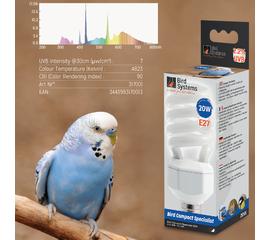 Лампа для волнистый попугаев BIRD SYSTEMS BIRD COMPACT SPECIALIST 2.2%  🐦 🔥, фото
