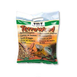 Буковая щепа, натуральный донный субстрат для сухих и полусухих террариумов JBL TerraWood, 5 л