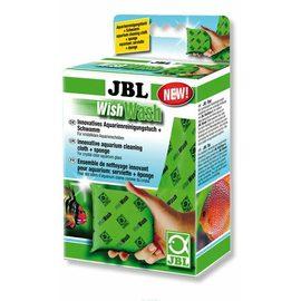 Специальная губка и салфетка для эффективной очистки стекол аквариума JBL WishWash