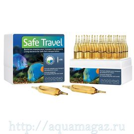 SAFE TRAVEL бактериальный препарат для транспортировки моской и пресноводной рыбы (30шт)