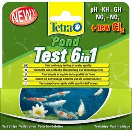 TetraPond Quick Test 6in1 набор экспресс-полосок для быстрой проверки показателей качества воды: pH GH KH NO2 NO3 Cl_(6/24)-