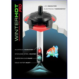 Плавающий электронагреватель 150W WINTERHOT PRO для водоемов в метал.корпусе  AQ-110531