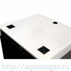 Аквариум нанорифовый Kauderni CF 200л, 65,5х60х60см, с тумбой (белая) и внешней фильтрационной системой