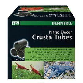 Декоративный элемент для нано-аквариумов Dennerle Nano Decor Crusta Tubes, 3 большие керамические трубки для креветок и раков