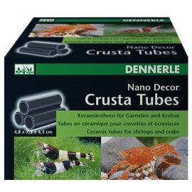 Декоративный элемент для нано-аквариумов Dennerle Nano Decor Crusta Tubes, 3 маленькие керамические трубки для креветок и раков