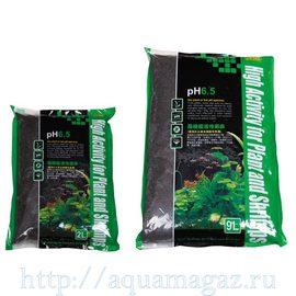 Субстрат для водных растений, pH 6,5, 1-3мм, 9л (S)