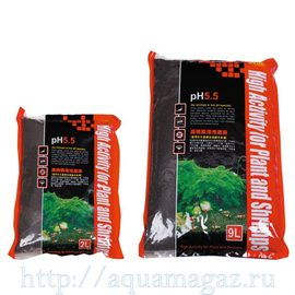 Субстрат для креветок, pH 5,5, 1-3мм, 9л (S)