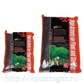 Субстрат для креветок, pH 5,5, 4-6мм,9л(S)