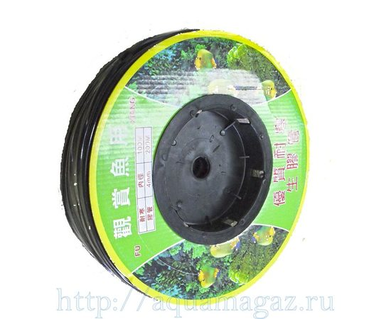 Шланг воздушный 4мм бабина 100м черный, - 1 -aquamagaz.ru