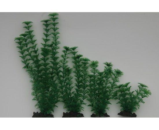 Растение пластиковое Амбулия 40 см зеленое, - 1 -aquamagaz.ru