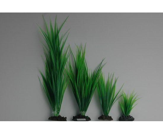 Растение пластиковое Аир 40 см зеленое, - 1 -aquamagaz.ru