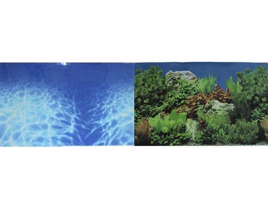 Фон Синее море и Растительный пейзаж 50х100см, - 1 -aquamagaz.ru
