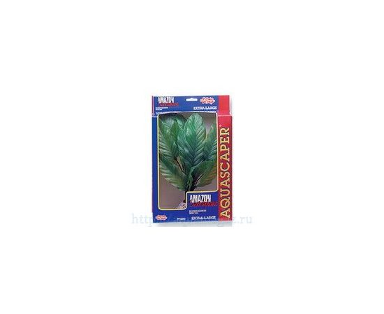 Растение Амазонка супер 35 см зеленое, - 1 -aquamagaz.ru