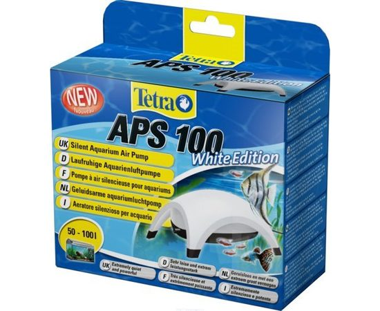 TetraTec AРS 100 компрессор для аквариумов 50-100 л белый, фото 3