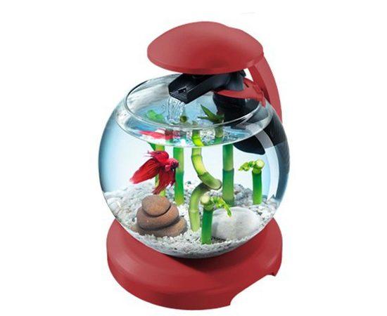 Аквариум Tetra Cascade Globe 6,8л круглый с LED светильником бордовый, - 1 -aquamagaz.ru
