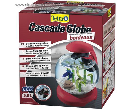 Аквариум Tetra Cascade Globe 6,8л круглый с LED светильником бордовый, - 5 -aquamagaz.ru