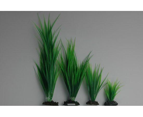 Растение пластиковое Аир 30 см зеленое, - 1 -aquamagaz.ru