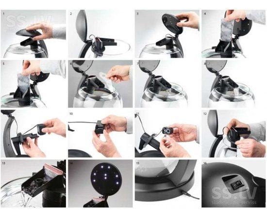 Аквариум Tetra Cascade Globe 6,8л круглый с LED светильником бордовый, - 2 -aquamagaz.ru
