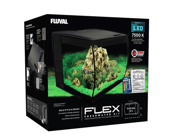 Аквариум Fluval Flex57л с изогнутым стеклом 390х390х415мм, - 3 -aquamagaz.ru