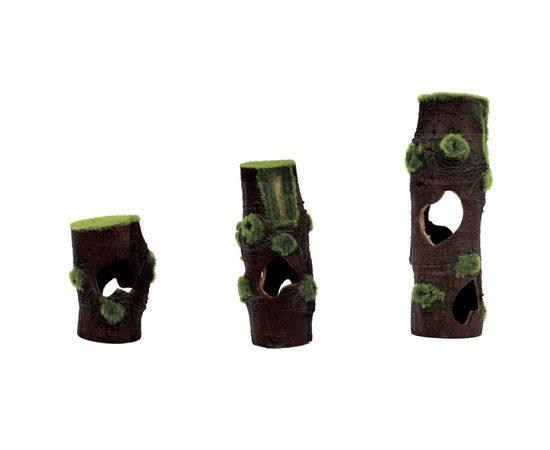 "ArtUniq Mossy Stumps 3S - Декоративный набор из пластика ""Пни со мхом из 3х частей 7,3x7,3x20 см, фото"