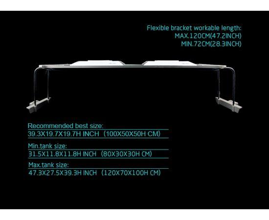 Cветильник Zetlight ZT6400 серебристый с контроллером + пульт (пресный), фото , изображение 13
