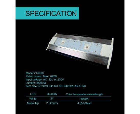 Cветильник Zetlight ZT6400 серебристый с контроллером + пульт (пресный), фото , изображение 14
