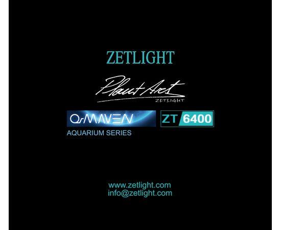 Cветильник Zetlight ZT6400 серебристый с контроллером + пульт (пресный), фото , изображение 2