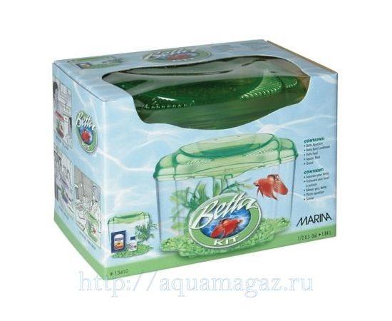 Аквариум Marina Betta Kit Green 1.8л, - 1 -aquamagaz.ru