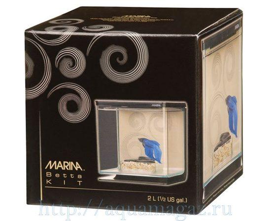 Аквариум Marina Betta Kit Zen 2л черный, фото