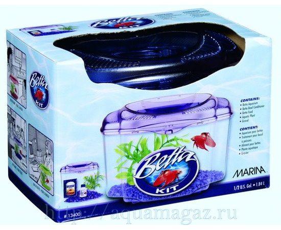 Аквариум Marina Betta Kit Purple 1.8л, - 1 -aquamagaz.ru