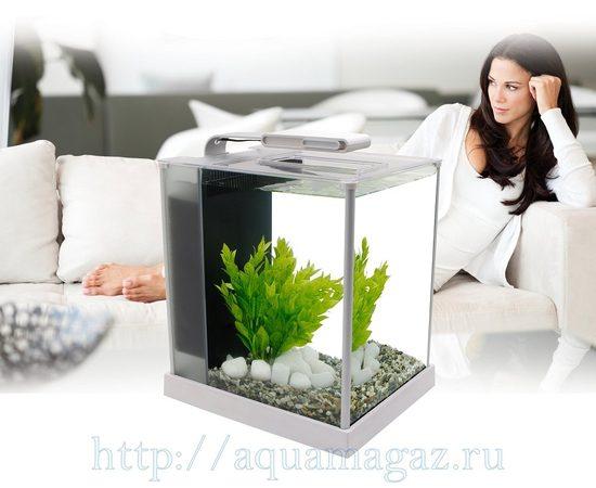 Аквариум Fluval 10 литров SPEC 3 белый, - 3 -aquamagaz.ru