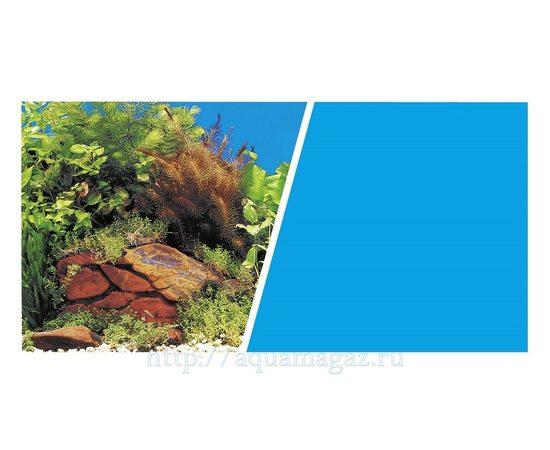Фон Растения на камнях/Голубой 30см 7.5 м