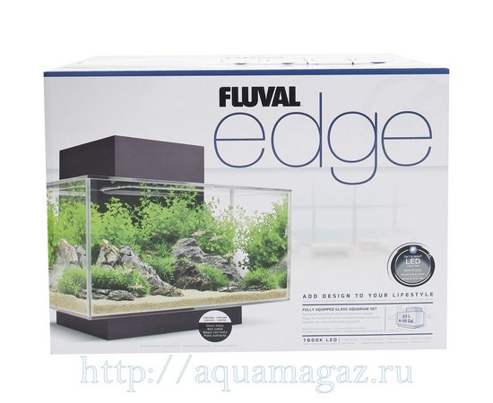 Аквариум Fluval Edge LED 23л чёрный, - 3 -aquamagaz.ru
