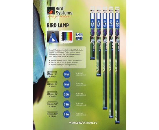 Лампа для птиц BIRD SYSTEMS LAMPS T8, Размер лампы: Т8 450 мм / 15 Вт, фото , изображение 5