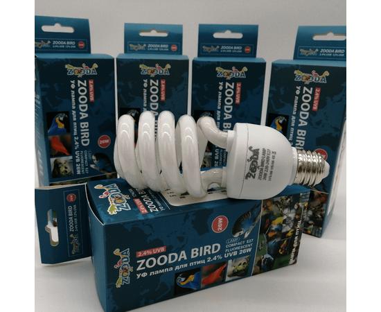 УФ лампа для птиц ZooDA birds Е27 2.4% UVB 12% UVA, Выбор вариации: 26 Вт, фото