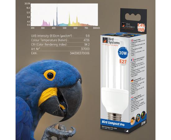 Лампа для попугая BIRD SYSTEMS BIRD COMPACT PRO 2.4%, фото