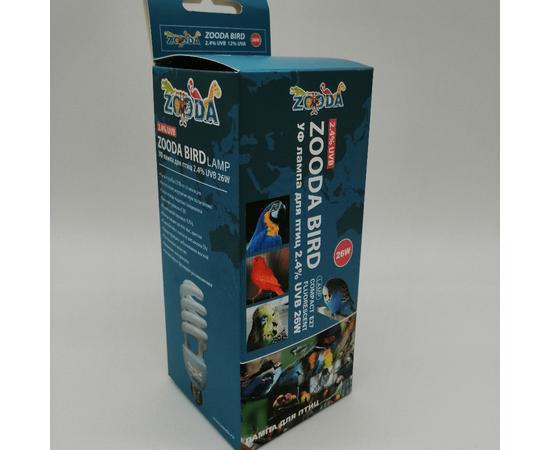 УФ лампа для птиц ZooDA birds Е27 2.4% UVB 12% UVA, Выбор вариации: 26 Вт, фото , изображение 3