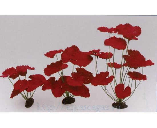 Растение Нимфея пурпурное 20см шелковое, - 1 -aquamagaz.ru