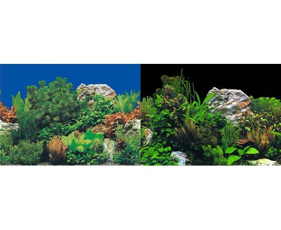 Фон 30см. Растительный с камнями синий и Растительный с камнем черный, фото