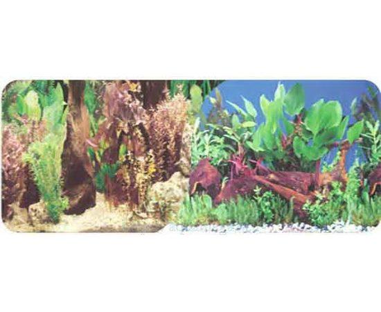 Фон 30см. Растительный с корягой и Растительный с корягой синий, фото