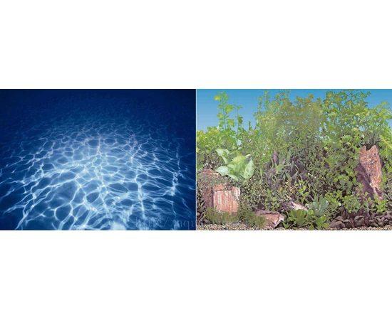 Фон 30см. Синее море и  Растительный с камнем синий, фото