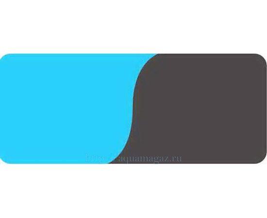 Фон 50см. Голубой и Черный, фото