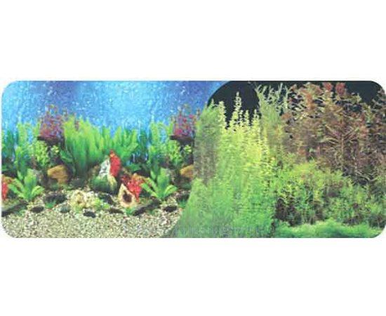 Фон 50см. Растительный пресн. синий и Кораллы морской черный, фото